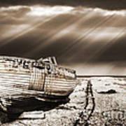 Fishing Boat Graveyard 9 Print by Meirion Matthias