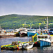 Fishing Boats In Newfoundland Print by Elena Elisseeva