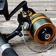 Fishing Rod And Reel . 7d13549 Print by Wingsdomain Art and Photography