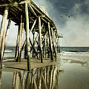 Fishing Shack Pier Print by Jody Trappe Photography
