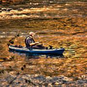 Fishing The Golden Hour Print by Steven Richardson