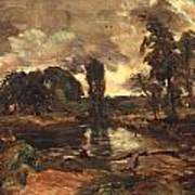 Flatford Mill From The Lock Print by John Constable