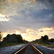 Follow The Tracks Print by Carolyn Marshall