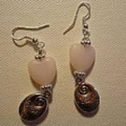 Follow Your Heart Sweet Pink Earrings Print by Jenna Green