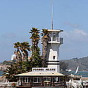 Forbes Island Restaurant With Alcatraz Island In The Background . San Francisco California . 7d14257 Print by Wingsdomain Art and Photography