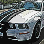 Ford Mustang Gt No. 2 Print by Samuel Sheats