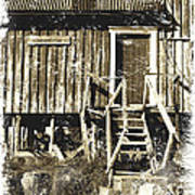 Forgotten Wooden House Print by Heiko Koehrer-Wagner
