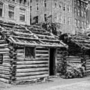 fort nashborough stockade recreation Nashville Tennessee USA Print by Joe Fox