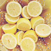Fresh Lemons Print by Amy Tyler