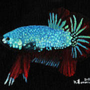 Frilled Blue Moonstone Print by Kayleigh Semeniuk