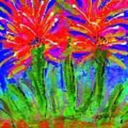 Funky Flower Towers Print by Angela L Walker