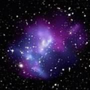 Galaxy Cluster Macs J0717 Print by Nasacxcstscima Et Al