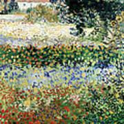 Garden In Bloom Print by Vincent Van Gogh