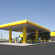 Gas Station Print by Jaak Nilson