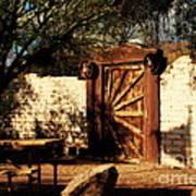 Gate To Cowboy Heaven In Old Tuscon Az Print by Susanne Van Hulst
