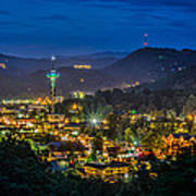 Gatlinburg And The Smokey Mountains Print by Brian Young