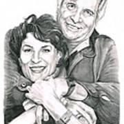 Gene And Majel Roddenberry Print by Murphy Elliott