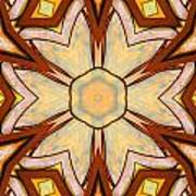 Geometric Stained Glass Abstract Print by Linda Phelps