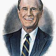 George H.w. Bush (1924-    ) Print by Granger