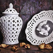 Ginger Jar And Compote Still Life Print by Tom Mc Nemar