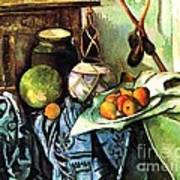 Ginger Jar And Eggplants Print by Pg Reproductions