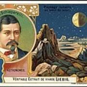 Giovanni Schiaparelli Lunar Advert Print by Detlev Van Ravenswaay