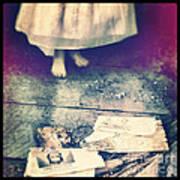 Girl In Abandoned Room Print by Jill Battaglia