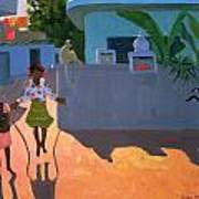Girl Skipping Print by Andrew Macara