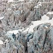 Glacial Crevasses Print by Mike Reid