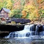 Glade Creek Grist Mill Print by Laurinda Bowling