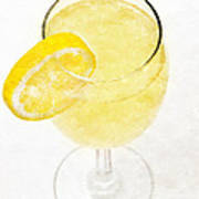 Glass Of Lemonade Print by Andee Design