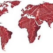Global Meat Eating, Conceptual Artwork Print by Victor De Schwanberg