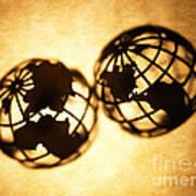 Globe 2 Print by Tony Cordoza