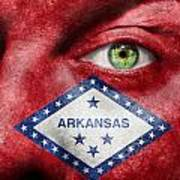 Go Arkansas  Print by Semmick Photo