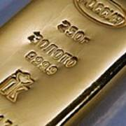 Gold Bullion Print by Ria Novosti