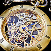 Gold Pocket Watch Print by Garry Gay