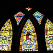 Gold Stained Glass Window Print by Thomas Woolworth