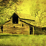 Golden Barn Print by Julie Hamilton