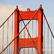 Golden Gate Bridge - Nothing Equals Its Majesty Print by Christine Till