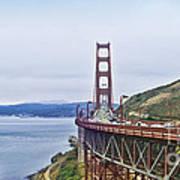 Golden Gate Bridge Print by Betty LaRue