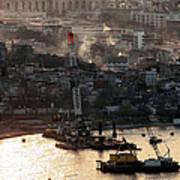 Golden Haze In Istanbul Print by John Rizzuto