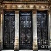 Grand Door - Leeds Town Hall Print by Yhun Suarez