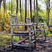 Grandmas Country Chairs Print by Athena Mckinzie