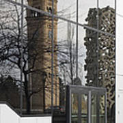 Great Northern Clocktower Reflection - Spokane Washington Print by Daniel Hagerman