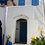 Greek Doorway Print by Jane Rix