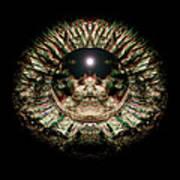 Green Eye Sphere Print by David Kleinsasser
