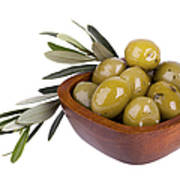 Green Olives Print by Jane Rix