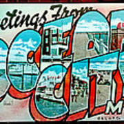 Greetings From Oc Print by Skip Willits