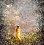 Grunge Light House Print by Svetlana Sewell