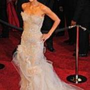 Halle Berry Wearing Marchesa Dress Print by Everett